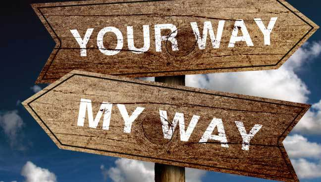 Your way or my way